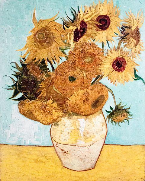 Florero de naturaleza muerta con doce girasoles - Vincent van Gogh