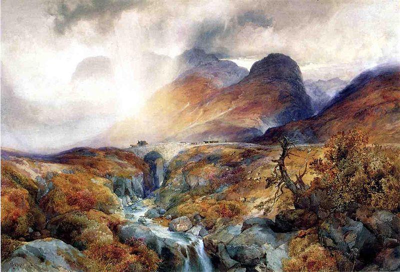 Pase en Glencoe Escocia - Thomas Moran