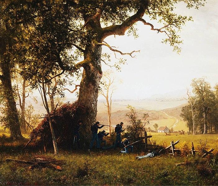 Guerra de guerrillas - Alfred Bierstadt