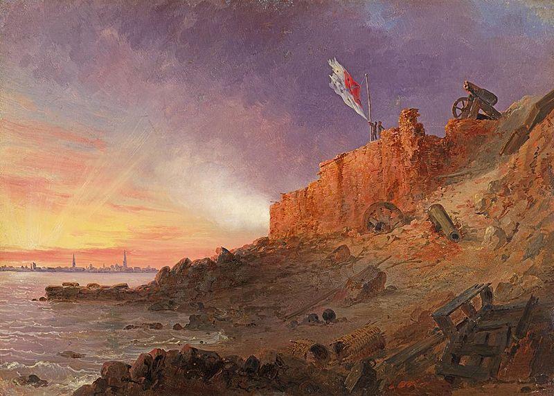 Evening Gun, Fort Sumter - Conrad Wise Chapman y John Gadsby Chapman