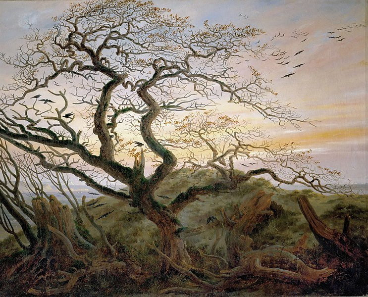 El árbol de los cuervos - Caspar David Friedrich