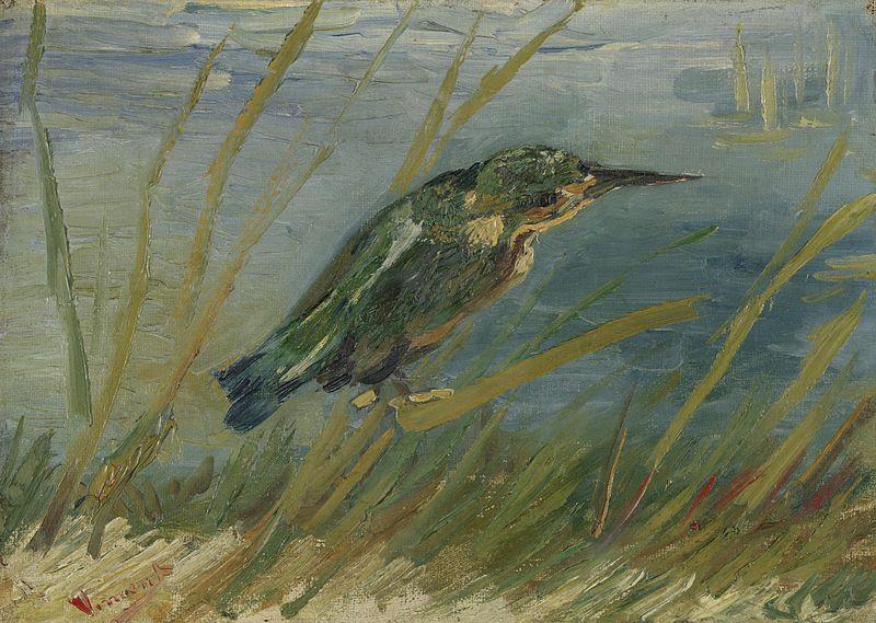 Martín pescador junto al agua - Van Gogh