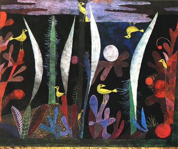 Paisaje con pájaros amarillos - Paul Klee