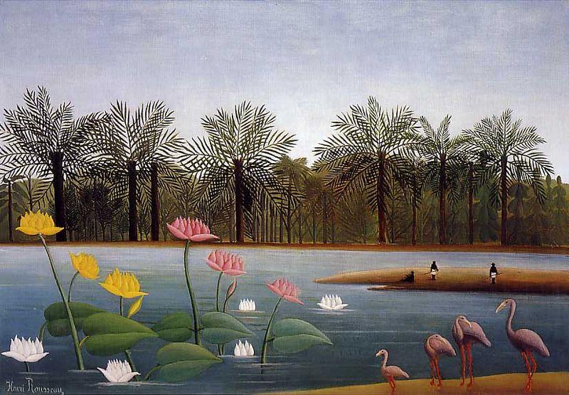 Los flamencos - Henri Rousseau