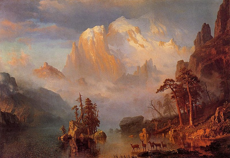 Las Montañas Rocosas - Albert Bierstadt