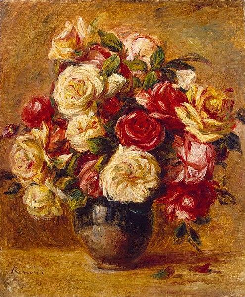 Ramo de rosas - Pierre-Auguste Renoir