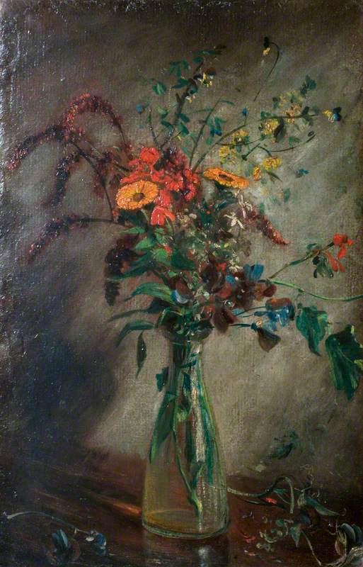Estudio de flores en un jarrón de vidrio, 1814 - John Constable