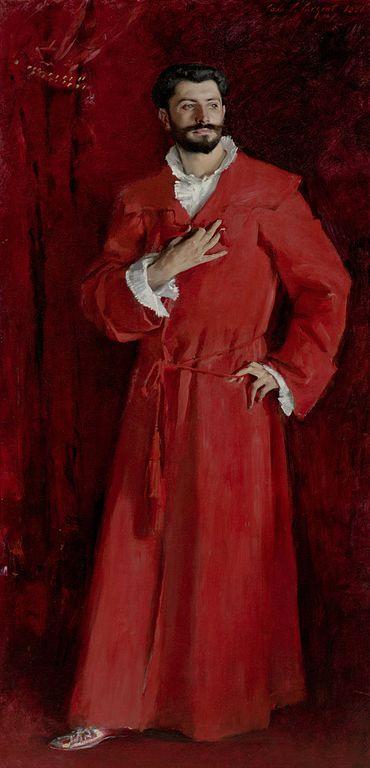 John Singer Sargent-en-color-rojo
