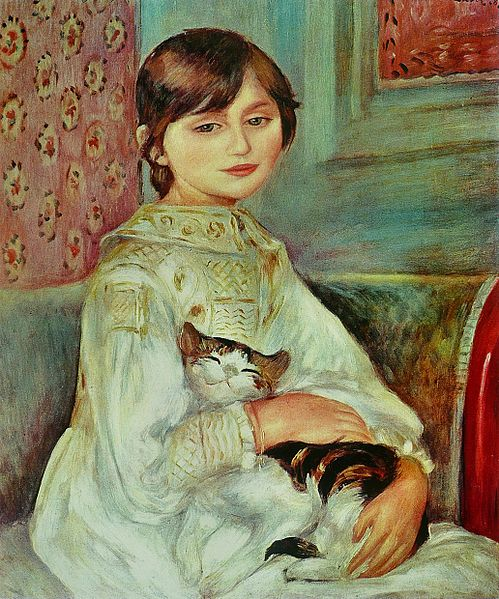 Julie Manet (Niño con gato) - Pierre-Auguste Renoir