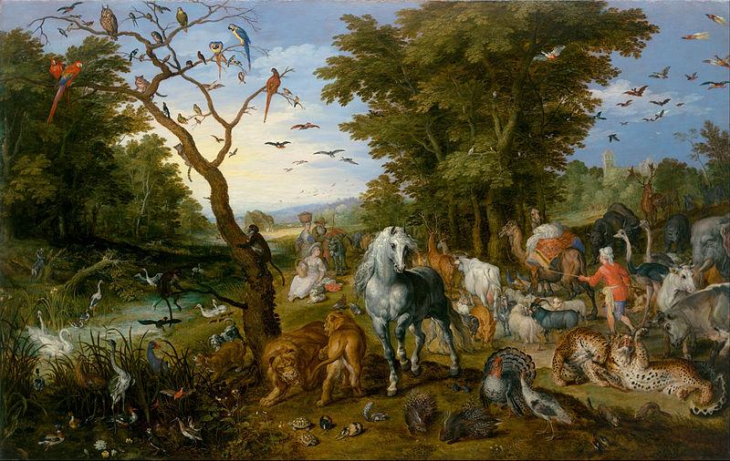 La entrada de los animales en el arca de Noé - Jan Brueghel el Viejo