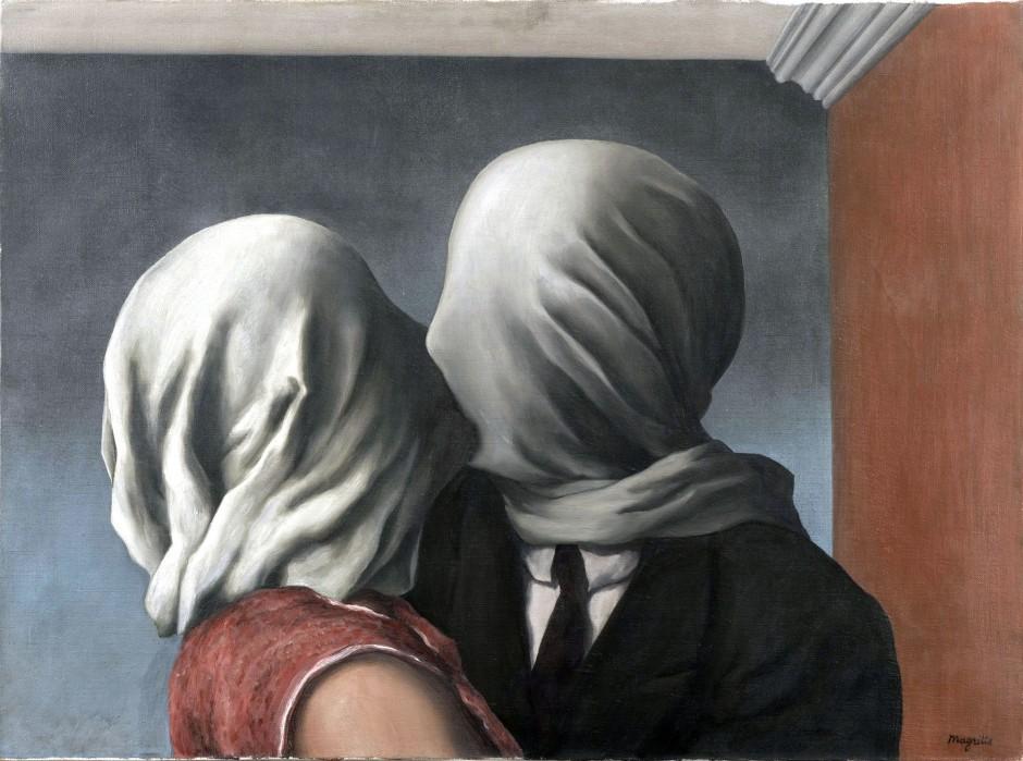 René Magritte, Los amantes