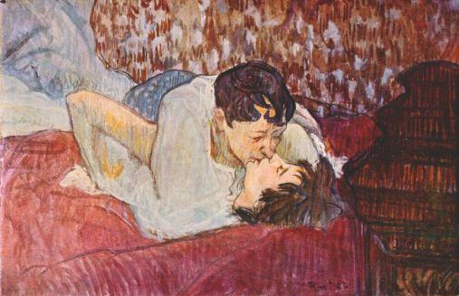 Henri de Toulouse-Lautrec, Il bacio, 1892